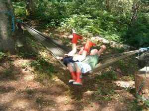 children in hammock